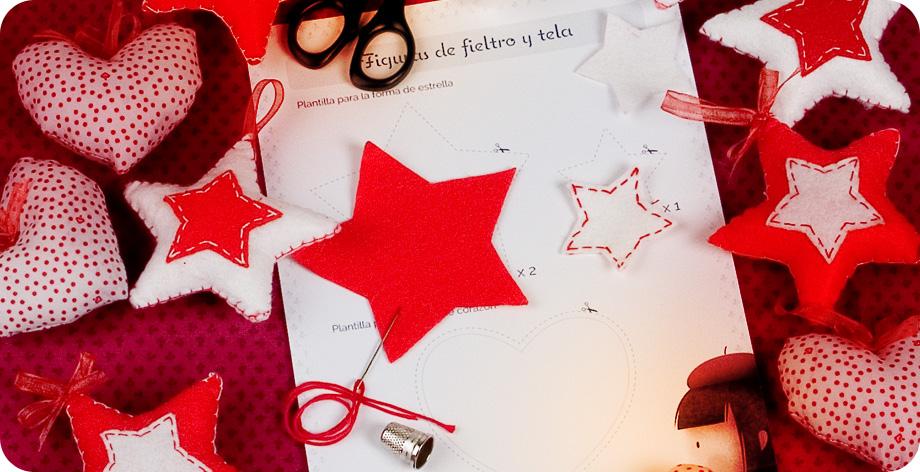 Figuras de fieltro y tela candy and coquette - Como hacer figuras de navidad ...