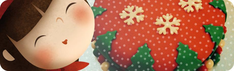 Pastel de Navidad confondant