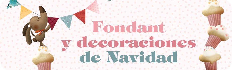 Fondant y decoraciones deNavidad