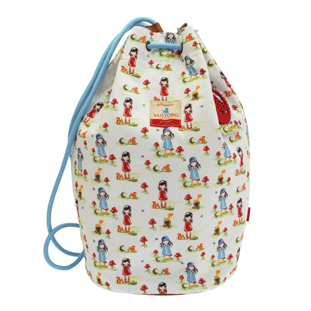 540GJ01-Gorjuss-PP Canvas Duffel Bag-Toadstools-front_HR